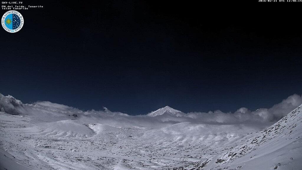 Webcam de la nevada de el Teide 2016