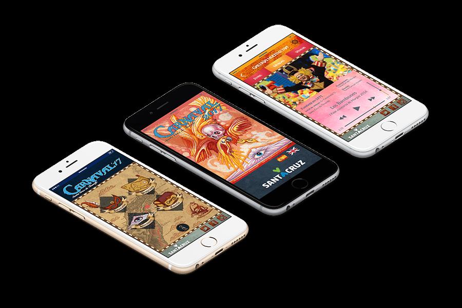 app móvil del carnaval de santa cruz de tenerife