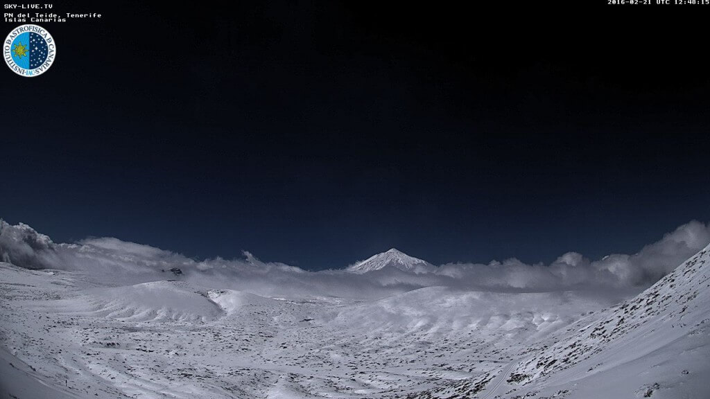 Webcam de la nevada de el Teide 2016